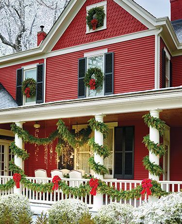 Adorable christmas porch décoration ideas 29