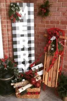 Adorable christmas porch décoration ideas 40