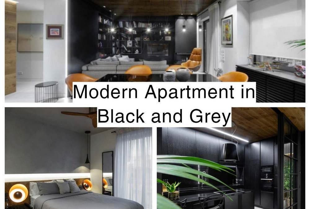8 Modern Apartment in Black and Grey