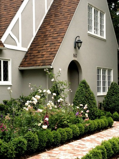 Exterior paint colors for house with brown roof 05