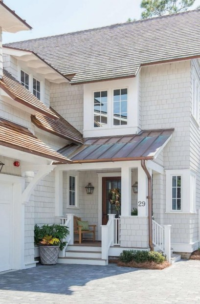Exterior paint colors for house with brown roof 21