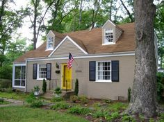 Exterior paint colors for house with brown roof 31