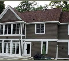 Exterior paint colors for house with brown roof 46