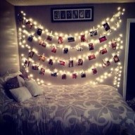 Awesome string light ideas for bedroom 12