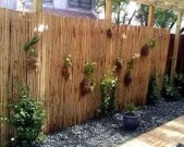 Bamboo fence ideas for small houses 16