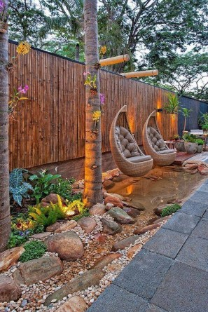 Bamboo fence ideas for small houses 27