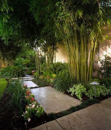 Bamboo fence ideas for small houses 33