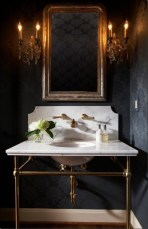 Elegant bathroom design with black walls 02