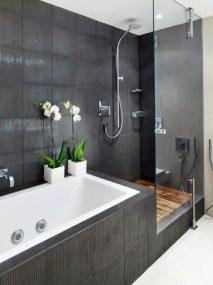 Elegant bathroom design with black walls 05