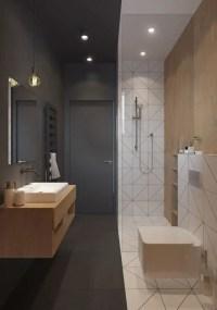 Elegant bathroom design with black walls 06