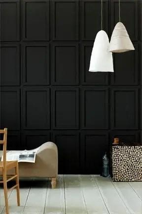 Elegant bathroom design with black walls 08