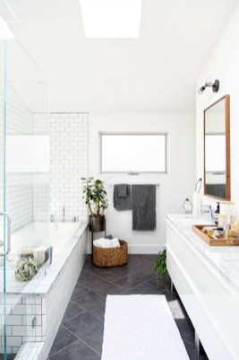 Rustic farmhouse bathroom ideas with shower 06