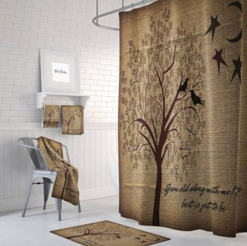 Rustic farmhouse bathroom ideas with shower 100