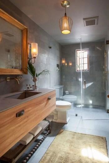 Rustic farmhouse bathroom ideas with shower 108