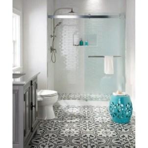 Rustic farmhouse bathroom ideas with shower 23