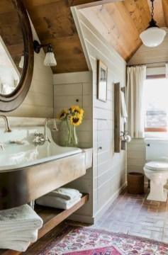 Rustic farmhouse bathroom ideas with shower 26