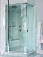 Rustic farmhouse bathroom ideas with shower 49