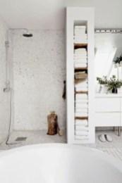 Rustic farmhouse bathroom ideas with shower 65