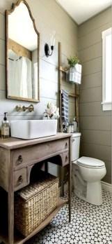 Rustic farmhouse bathroom ideas with shower 74