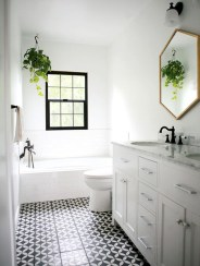 Rustic farmhouse bathroom ideas with shower 75