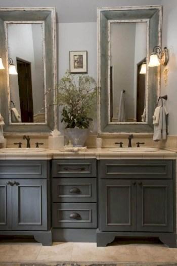 Rustic farmhouse bathroom ideas with shower 77