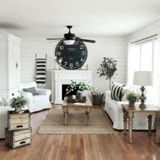 Rustic modern farmhouse living room decor ideas 05