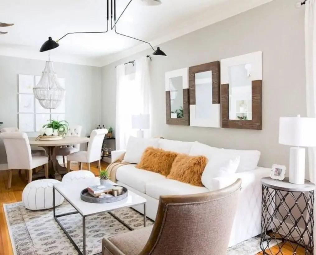 Rustic modern farmhouse living room decor ideas 09