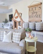 Rustic modern farmhouse living room decor ideas 104