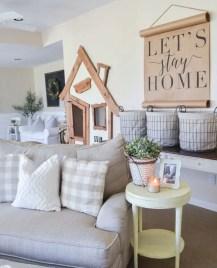 Rustic modern farmhouse living room decor ideas 104