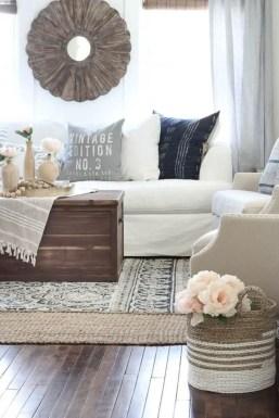 Rustic modern farmhouse living room decor ideas 107