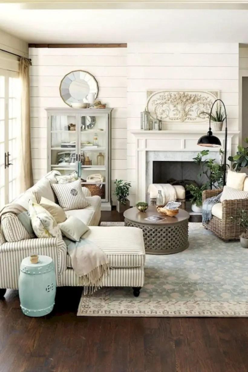 Rustic modern farmhouse living room decor ideas 15