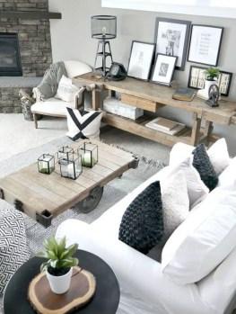 Rustic modern farmhouse living room decor ideas 17