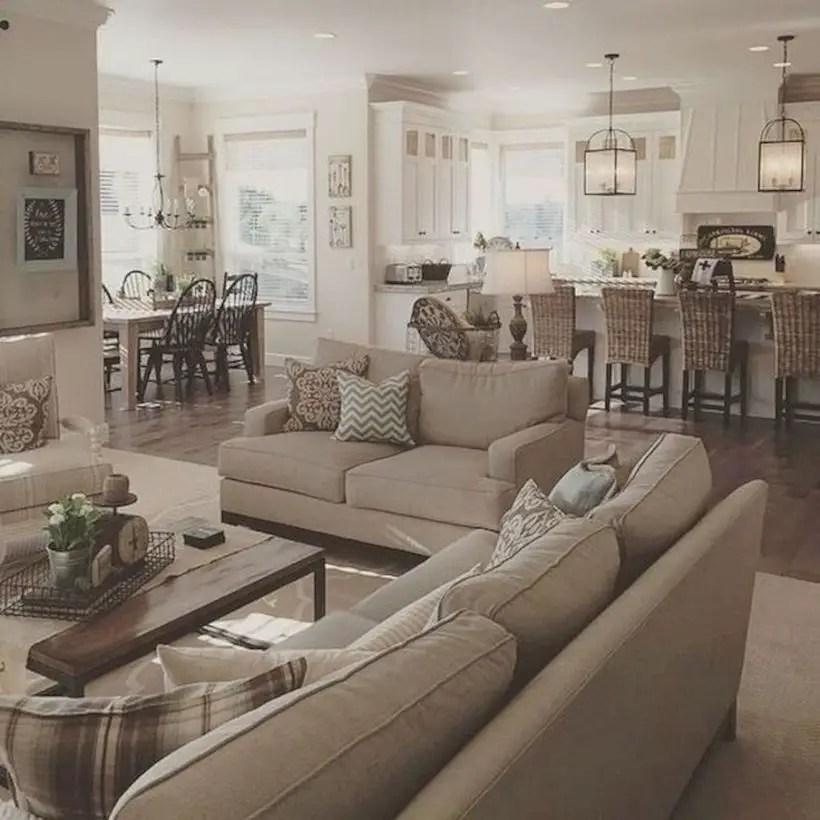 Rustic modern farmhouse living room decor ideas 18