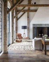 Rustic modern farmhouse living room decor ideas 21