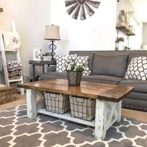 Rustic modern farmhouse living room decor ideas 25