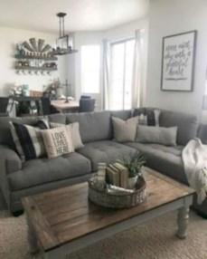 Rustic modern farmhouse living room decor ideas 30
