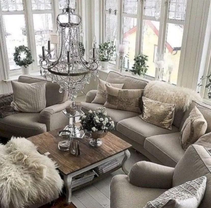 Rustic modern farmhouse living room decor ideas 37