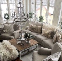 Rustic modern farmhouse living room decor ideas 37