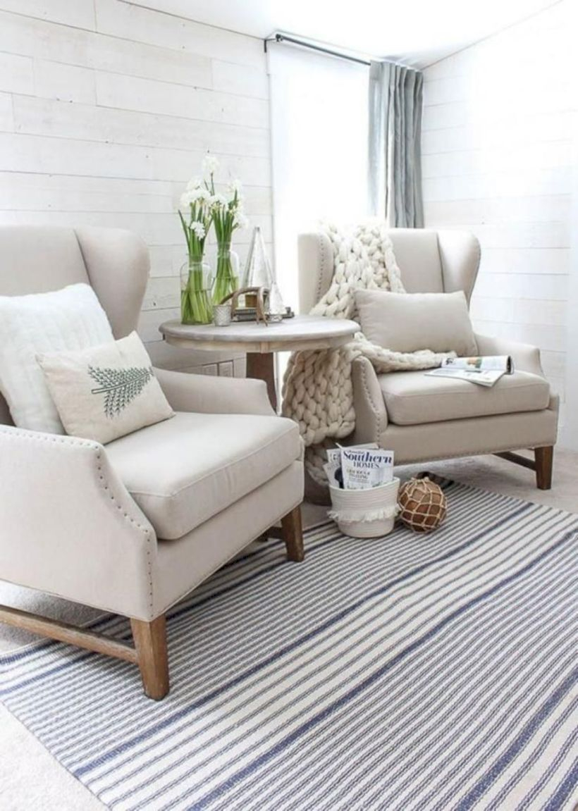 Rustic modern farmhouse living room decor ideas 66