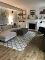 Rustic modern farmhouse living room decor ideas 81