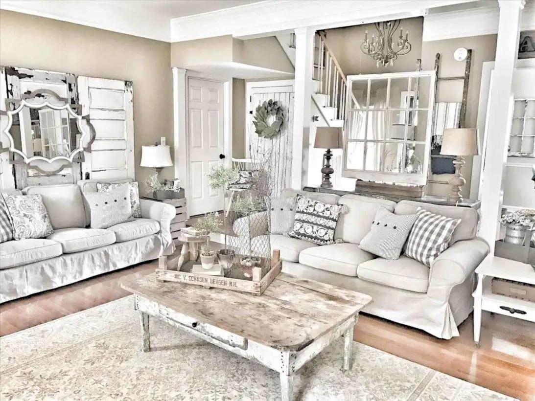 Rustic modern farmhouse living room decor ideas 83