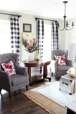 Rustic modern farmhouse living room decor ideas 86