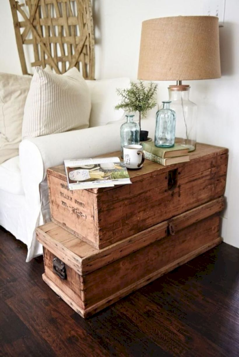 Rustic modern farmhouse living room decor ideas 89