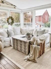 Rustic modern farmhouse living room decor ideas 96