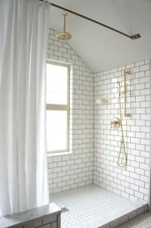 Unique attic bathroom design ideas for your private haven 04