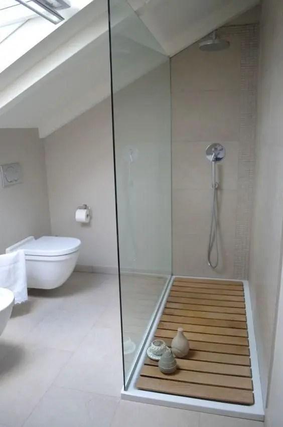 Unique attic bathroom design ideas for your private haven 05