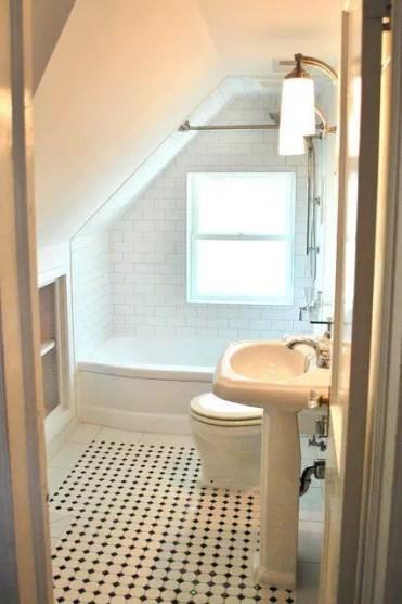 Unique attic bathroom design ideas for your private haven 23