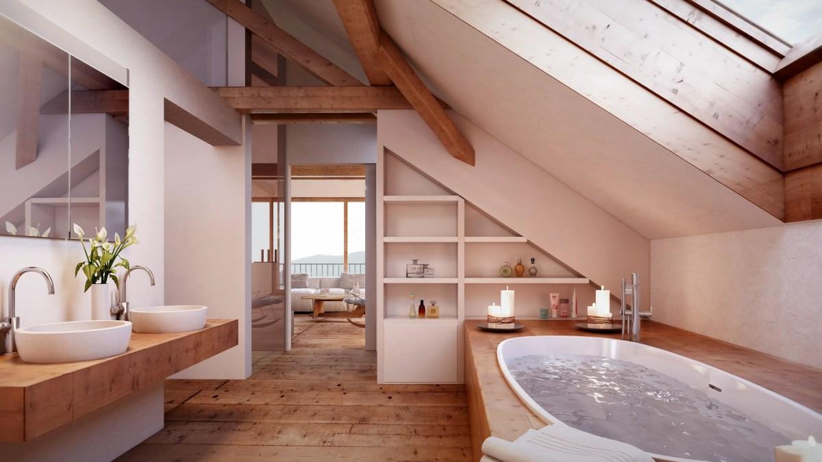 54 Unique Attic Bathroom Design Ideas for Your Private Haven