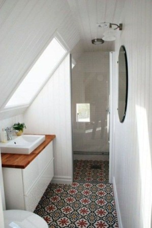 Unique attic bathroom design ideas for your private haven 39