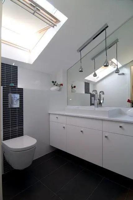 Unique attic bathroom design ideas for your private haven 44